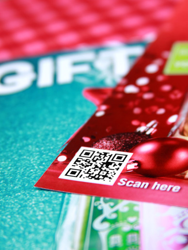 QR Codes can be very effective on promotional items.