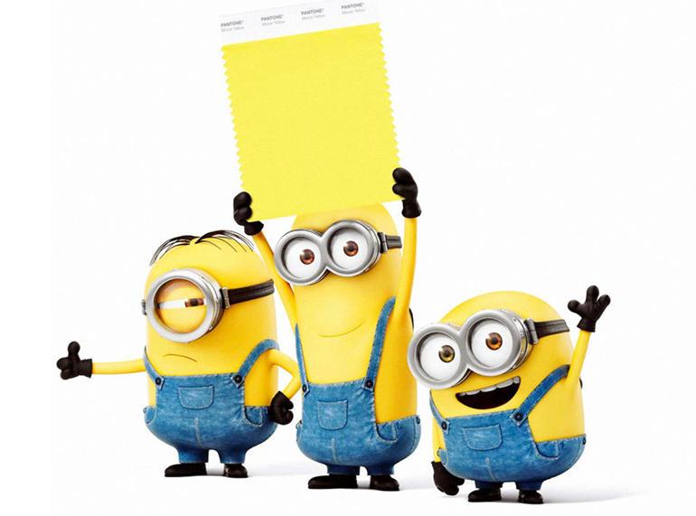 minion yellow Pantone