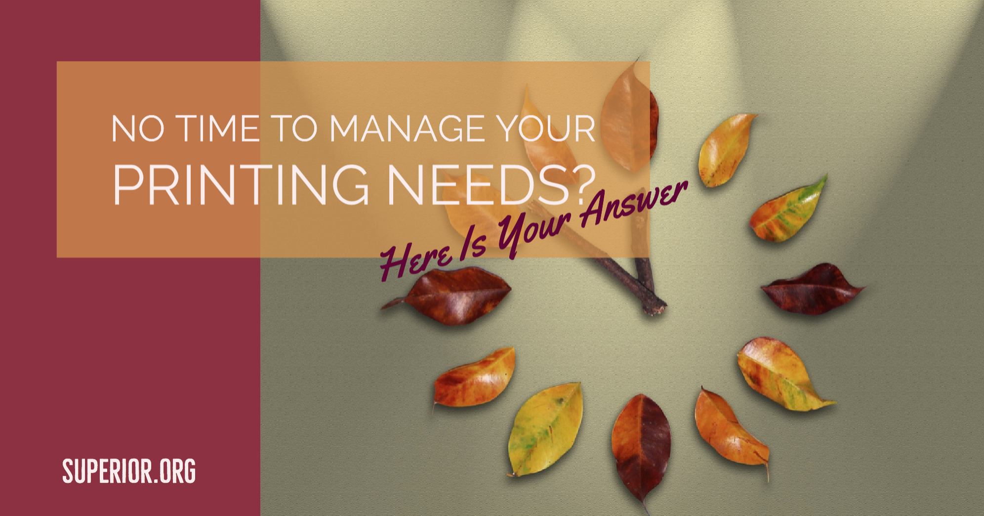 No Time to Manage Your Printing Needs? Print Management Is Your Answer