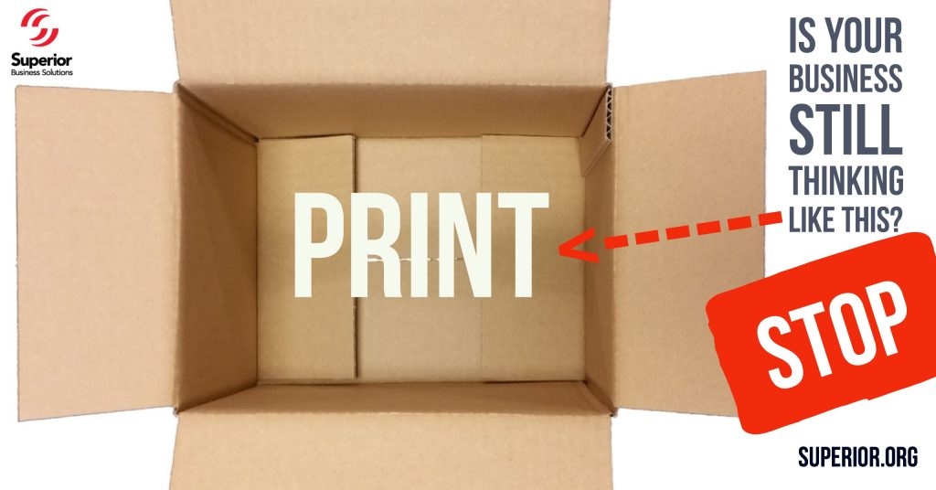Could thinking outside the box save money on your printing services?