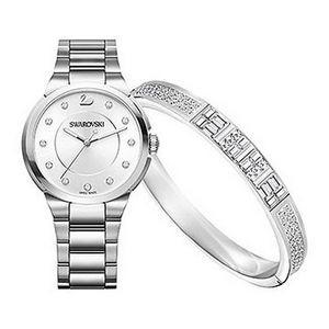 Custom Branded Swarovski Ethic Bangle & City Watch Set