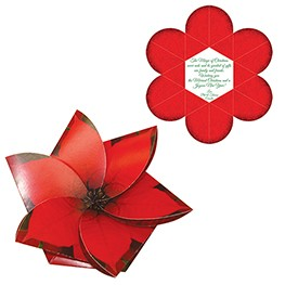 Floral gift card holders
