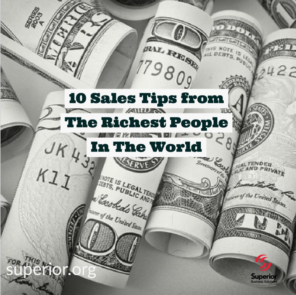 10 Sales Tips from the Richest People in the World