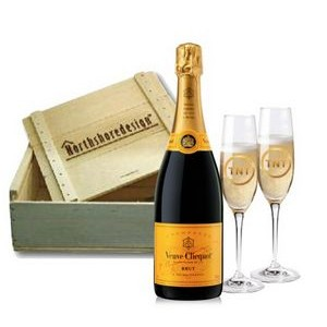 Ring in the New Year with Your Customers and Custom Branded Products Like Veuve Clicquot Champagne and Glasses