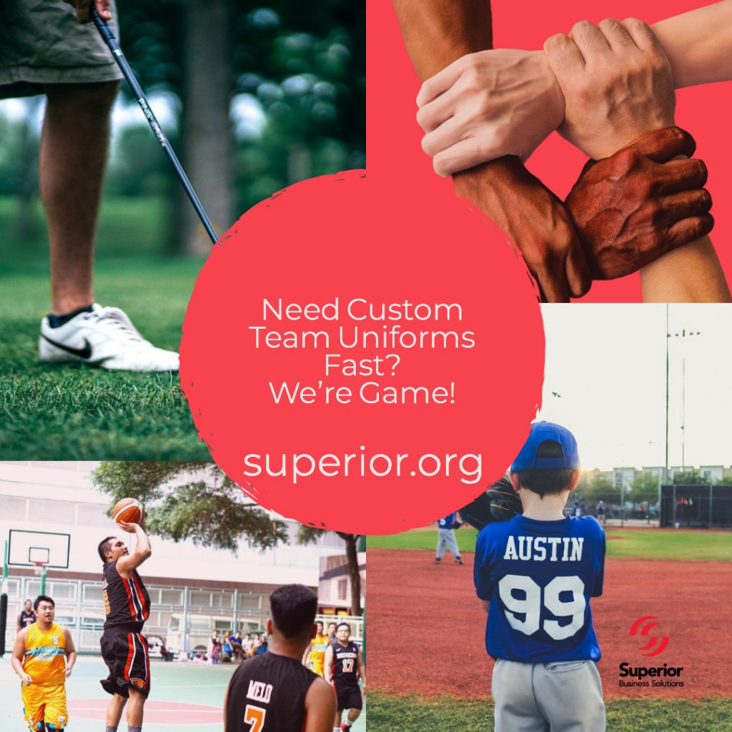 Need Custom Team Uniforms and Promotional Apparel Fast? We're Game!