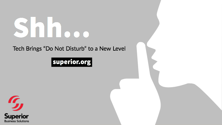 """Tech Brings """"Do Not Disturb"""" to a New Level"""
