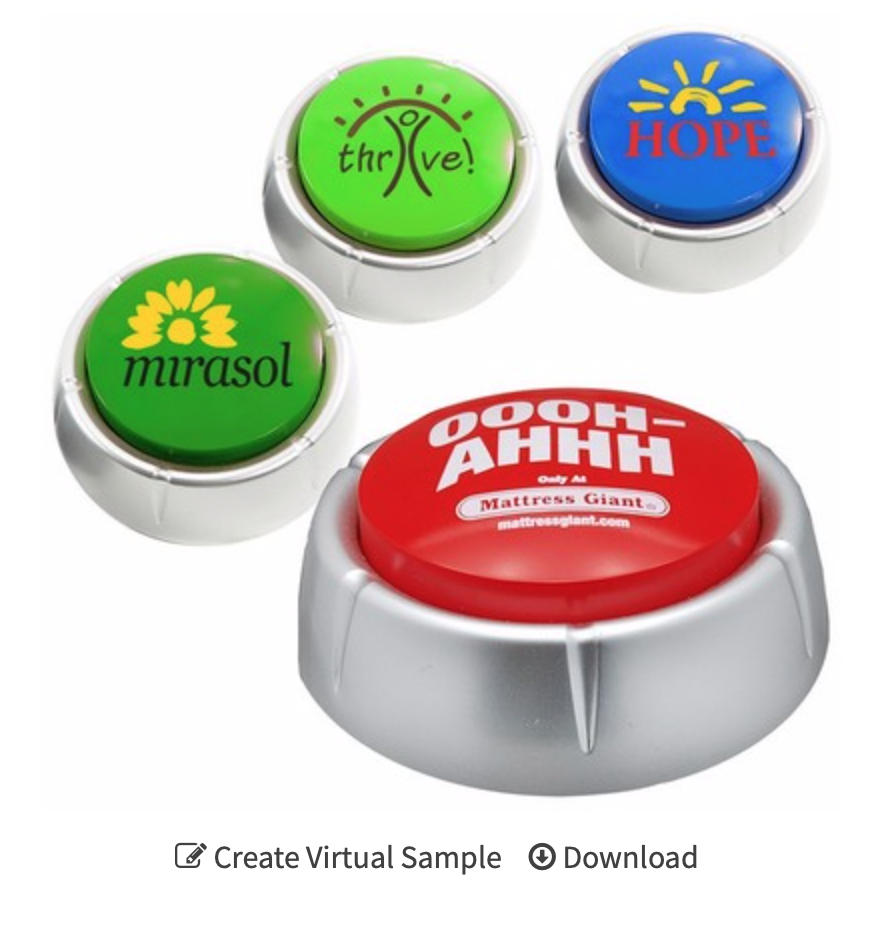 customized talking message button
