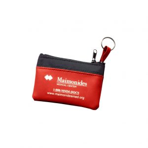 custom change purse for promotional marketing in financial industries