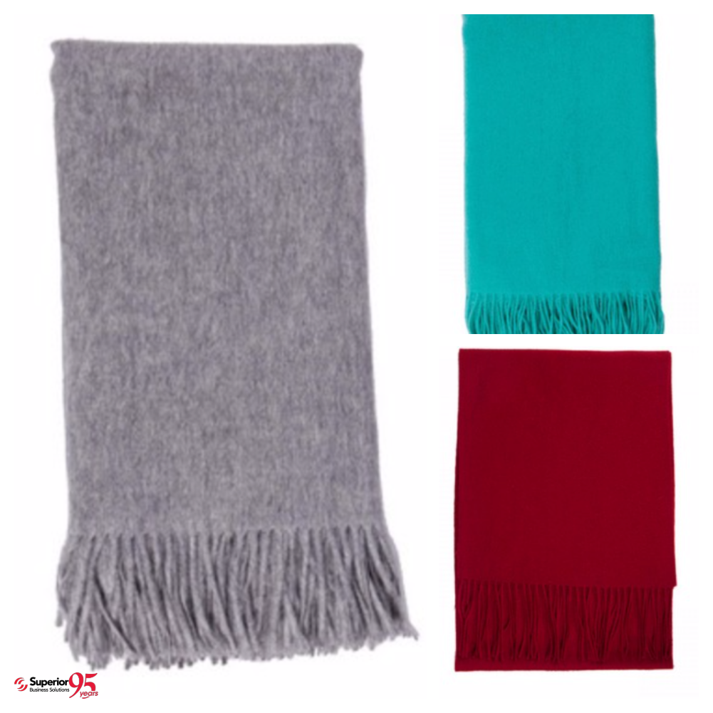 100% Cashmere Logo'd Blanket promotional gifts