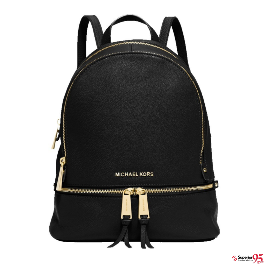 logod Michael Kors Rhea Medium Leather Backpack