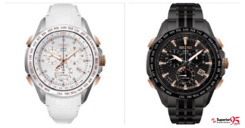 logod Seiko Astron GPS Solar Chronograph watch