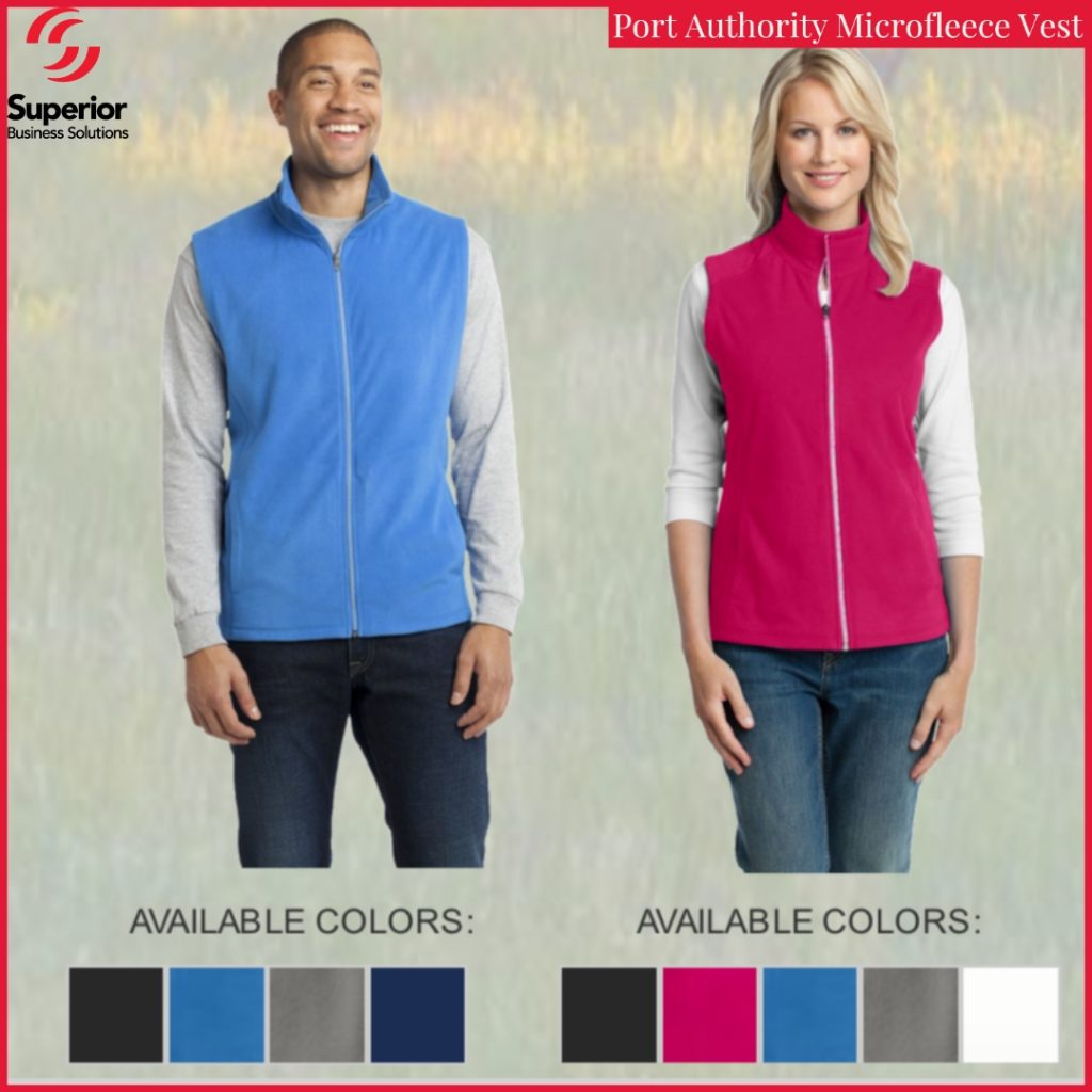 custom promotional apparel port authority microfleece ves