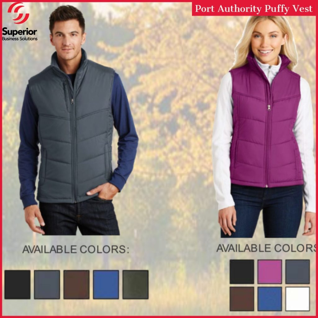 promotional apparel customized port authority puffy vest
