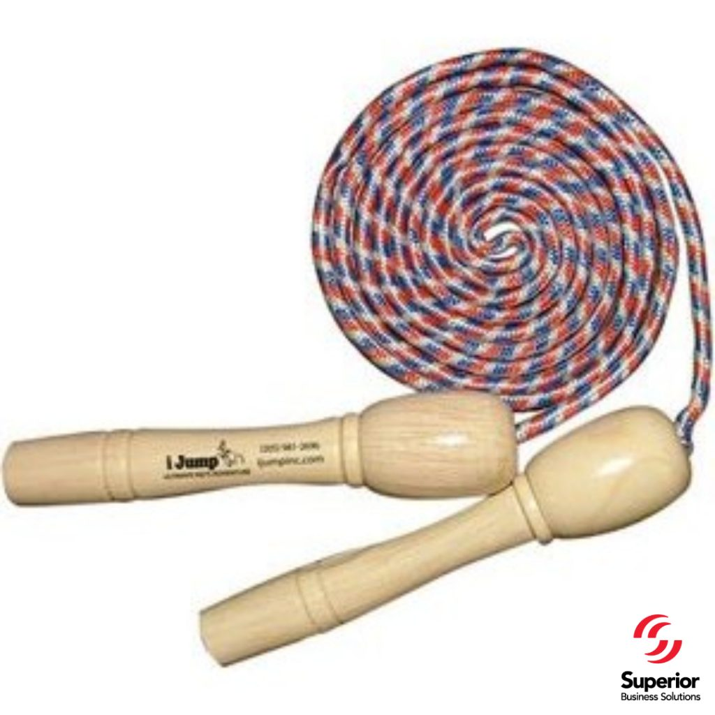 promotional gifts for marketing 84_ Solid Natural Wood Handle Attractive Jump Rope