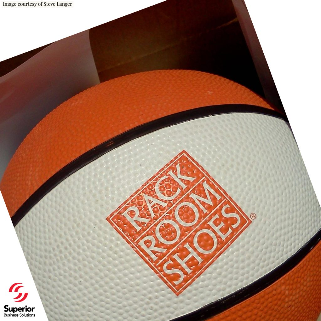 Rack Room Shoes pad printed promotional gift Basketball