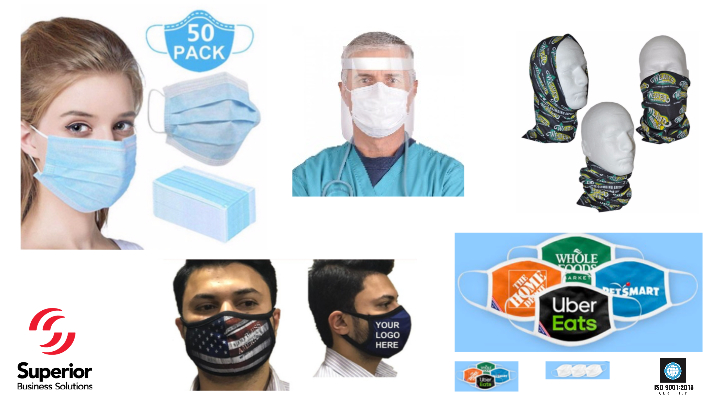 face masks for coronavirus branded