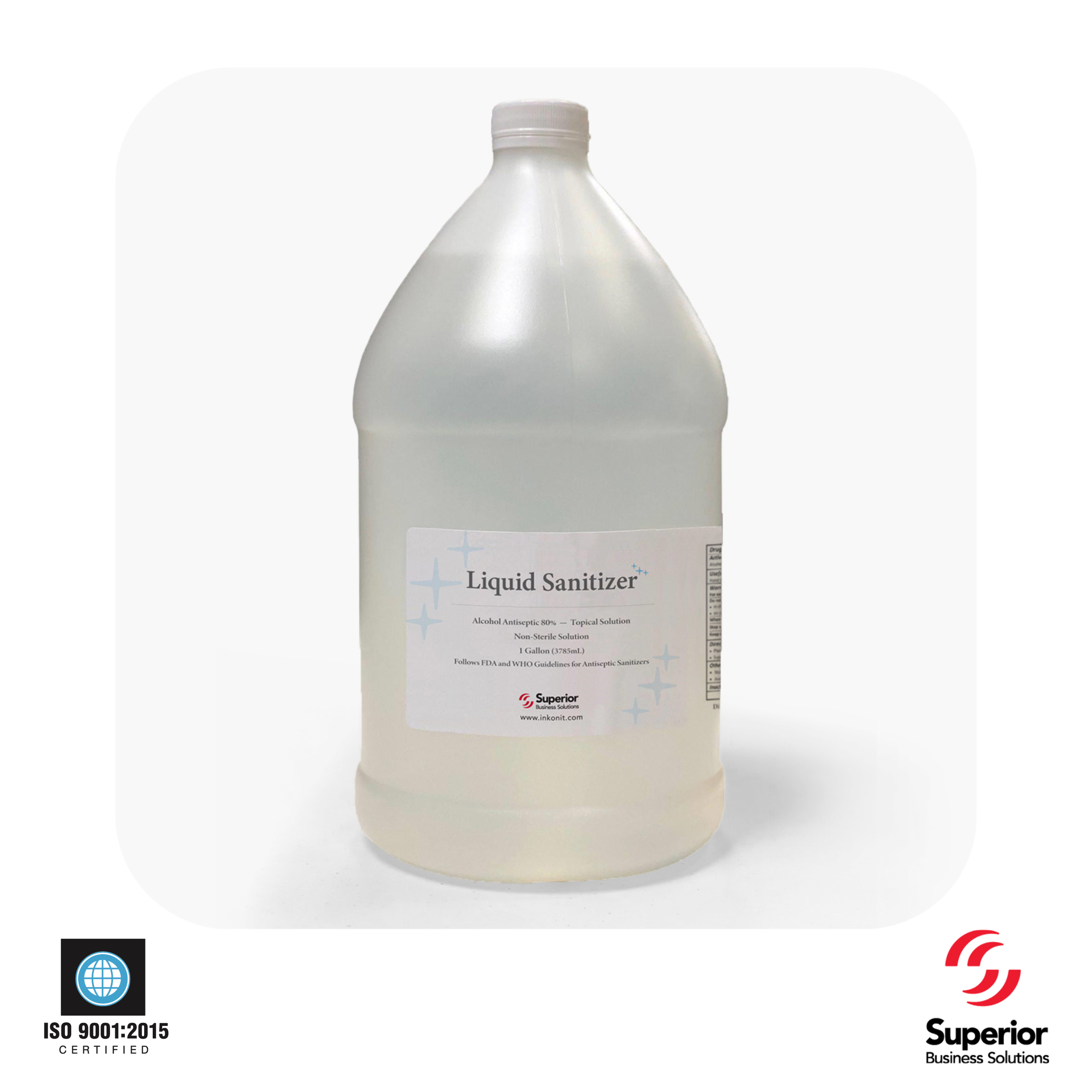 In-stock Gallons of Liquid Sanitizer Ship in 24 Hours!