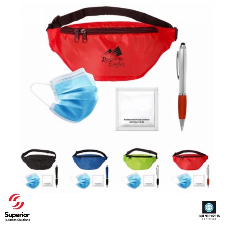 logo Super Shopper PPE FannyPack with PPE for coronavirus