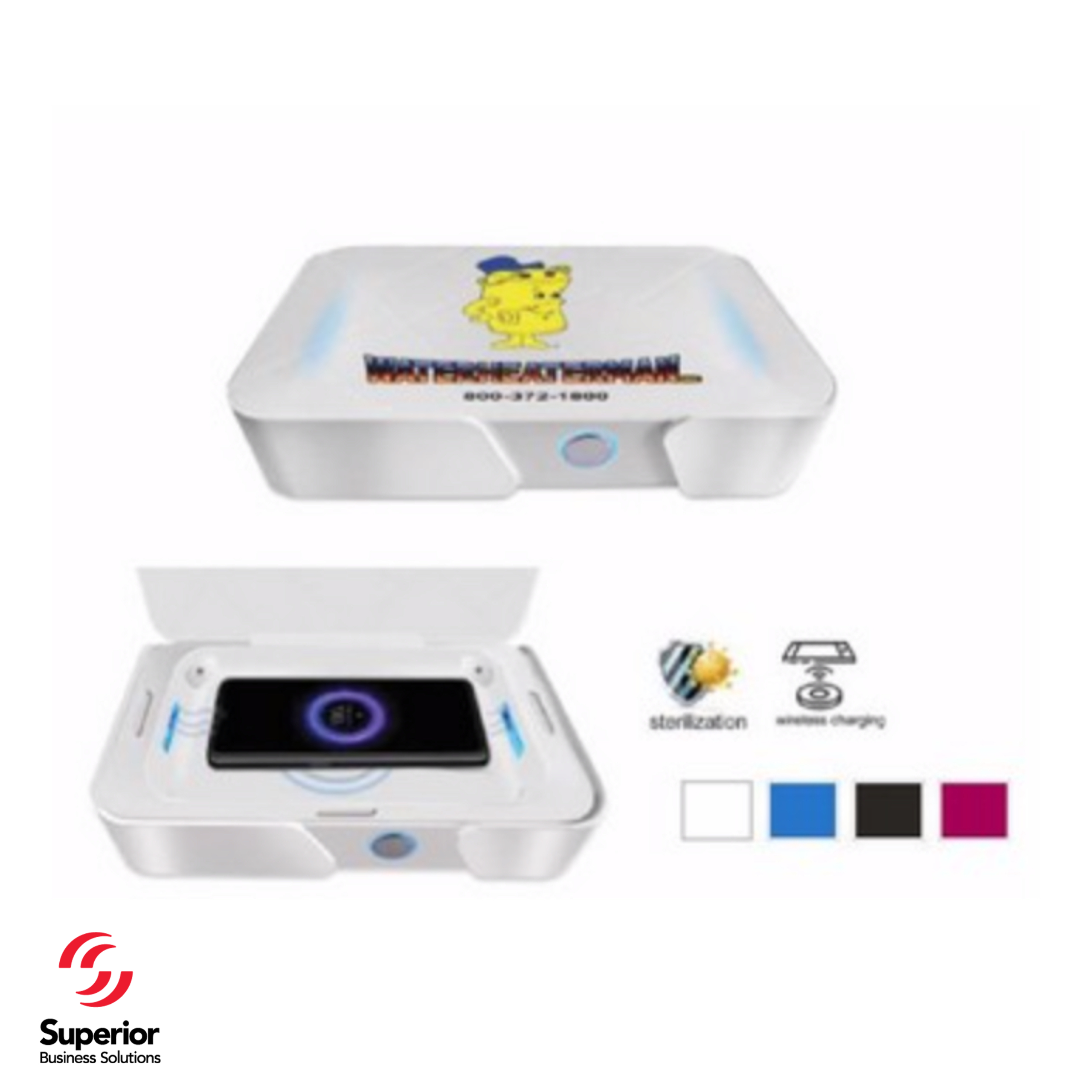 UV Sterilizer and Wireless Phone Charger Comes in Many Colors