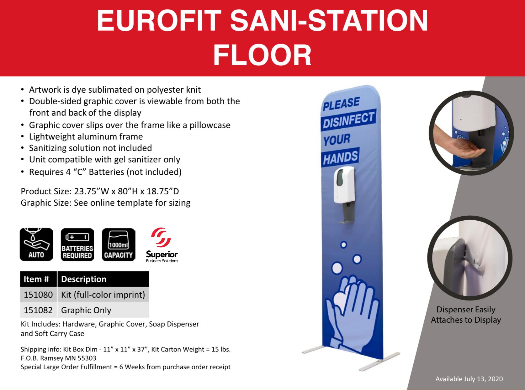 eurofit-sani-station-floor-model