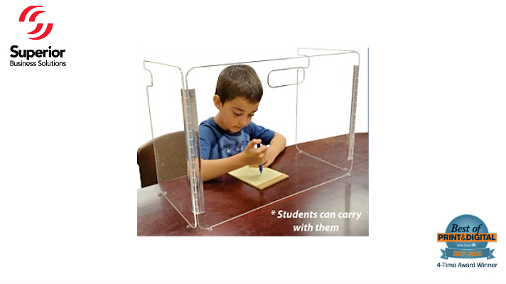 Portable Sneeze Guards Keep Kids SAFE in School