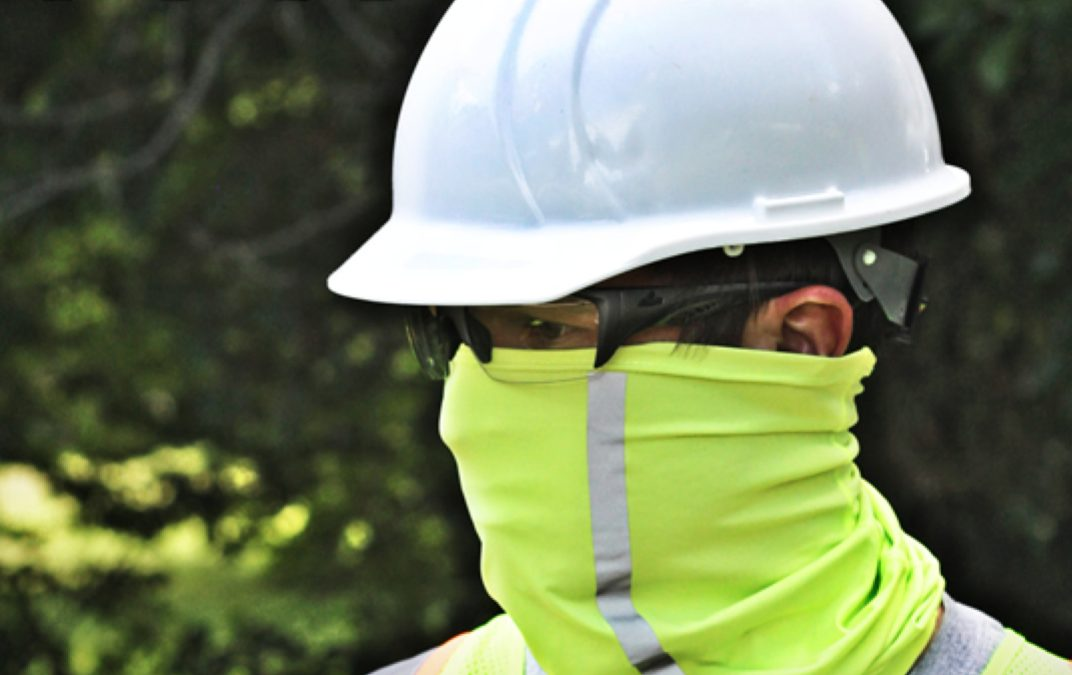 Custom MAX143 Ice Cooling Gaiter with High-Visibility Protection for Your Construction Crew