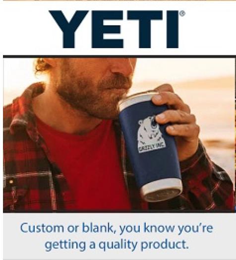 YETI customized promotional gifts