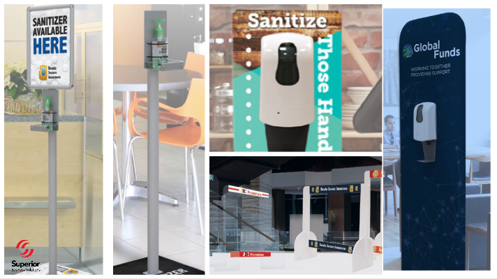 SALE on Hand Sanitizer Stations & Protective Counter Barriers