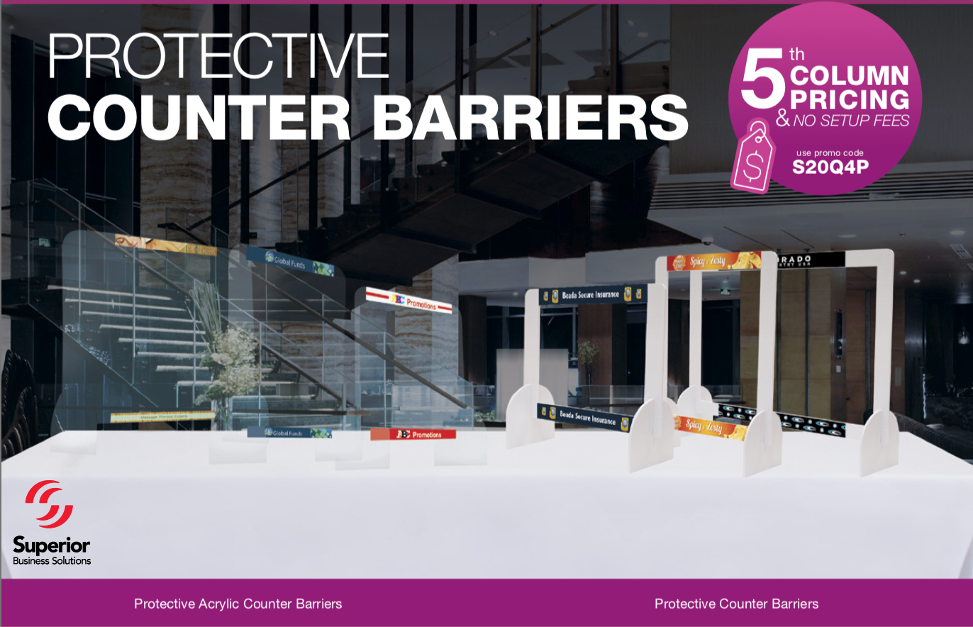 SALE on Protective Counter Barriers