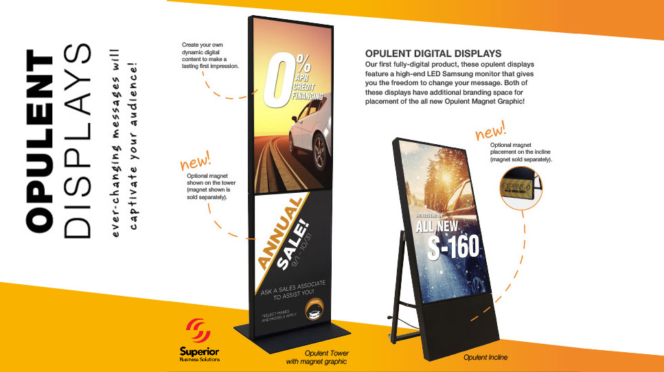 Captivate Prospective Customers with Opulent Digital Displays