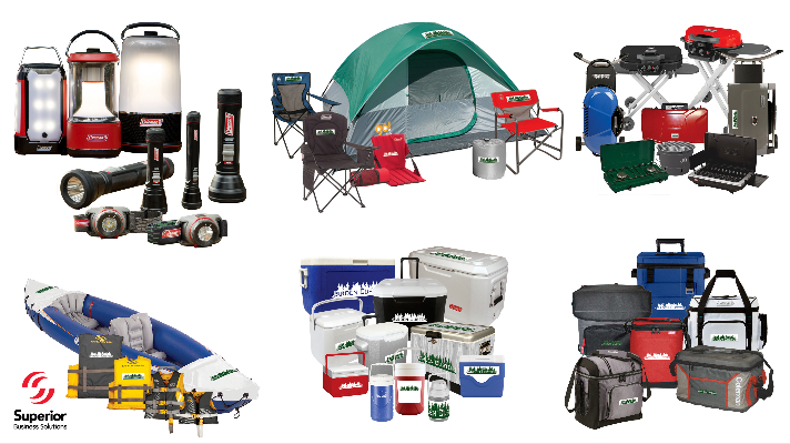 put your logo on coleman items for promotional marketing enablement