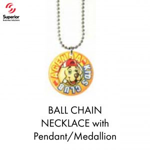BALL CHAIN NECKLACE with Pendant_Medallion
