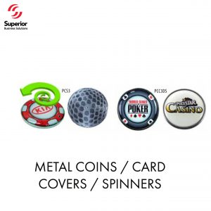 customized METAL COINS _ CARD COVERS _ SPINNERS