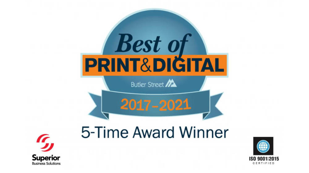 Superior Business Solutions Earns Fifth Consecutive Best of Print & Digital Award