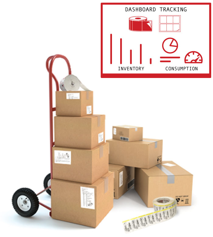 Custom labels inventory monitoring for business.