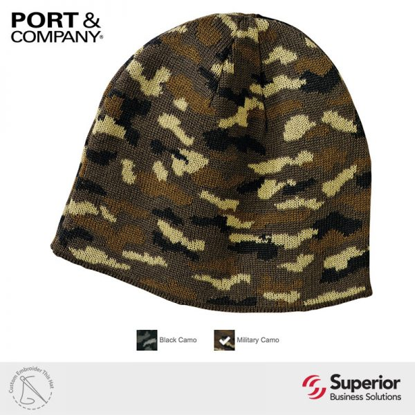 CP91C - Port and Company Knitted Camo Cap