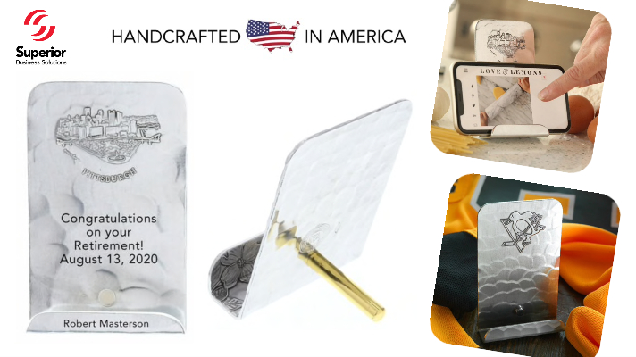 American-Made Desktop Phone Holders with Your Logo