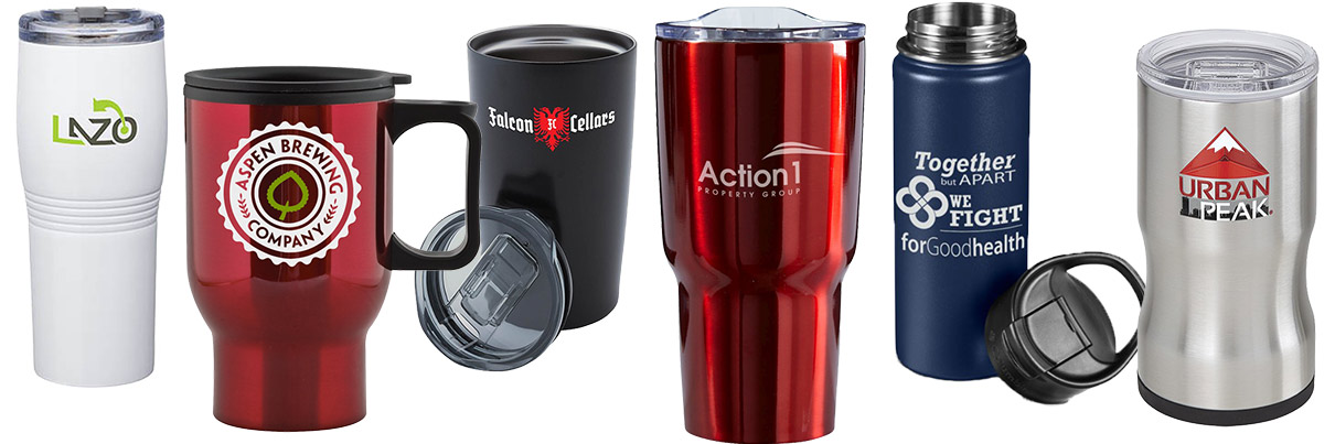Insulated Stainless Steel Travel Mugs with Lids