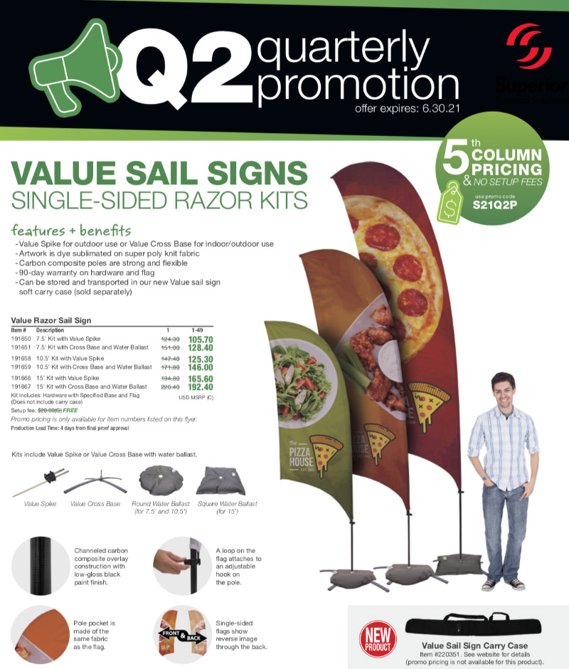 sale-pricing-VALUE-SAIL-SIGNS -SINGLE-SIDED-RAZOR-KITS
