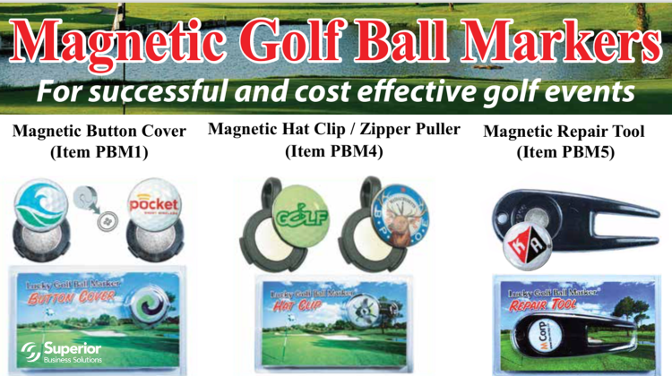 """Your Company Can """"Win"""" Every Golf Outing with Custom Magnetic Ball Markers"""